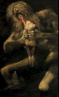 Кронос-Сатурн, подирающий своих детей