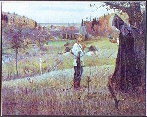 Нестеров - Видение отроку Варфоломею