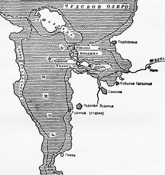 Границы Чудского озера в ХХ и