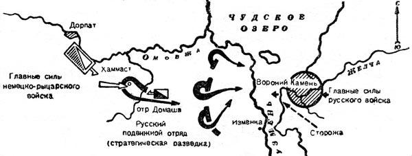 Расположение войск 4 апреля