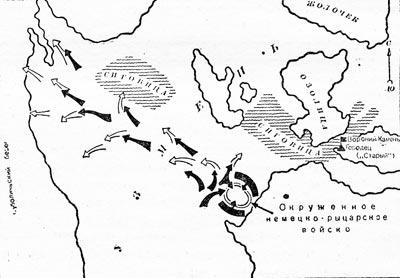 Карта Ледовое побоище.